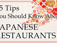 15 Tips you Should Know about JAPANESE RESTAURANTS Part. 2